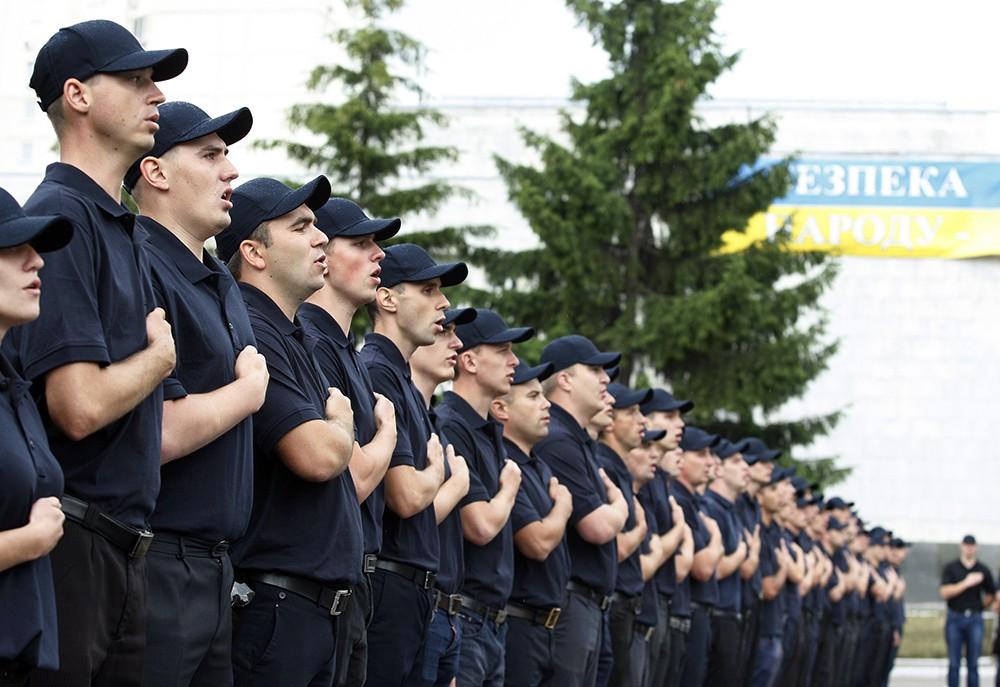 Новая патрульная полиция в Киеве