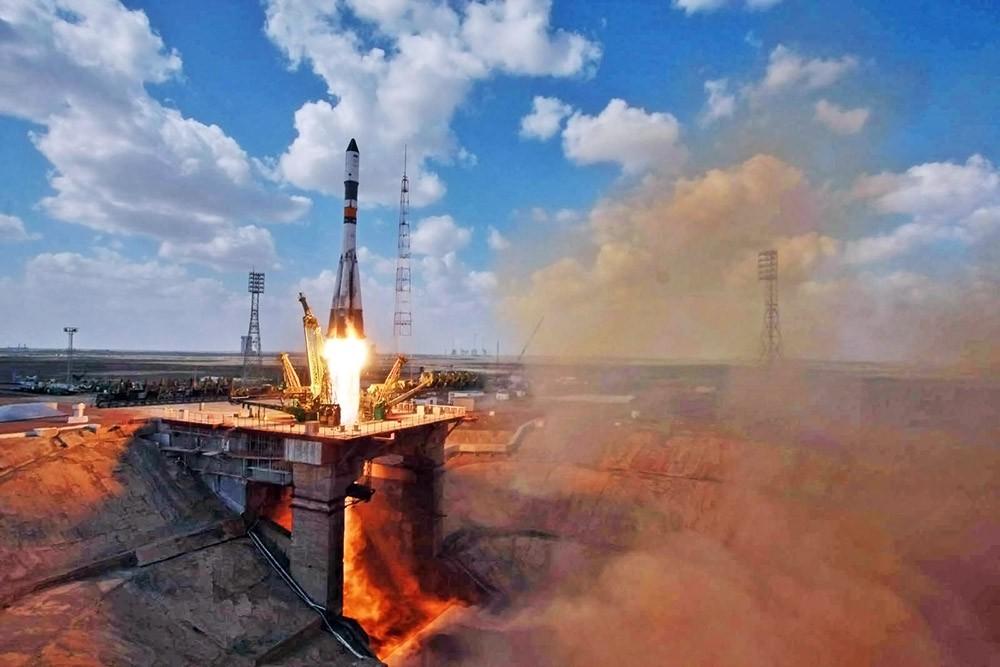 """Старт ракеты-носителя """"Союз-У"""""""