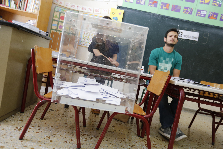 Избирательный участок в Греции