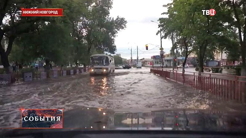 Сильные ливни в Нижнем Новгороде