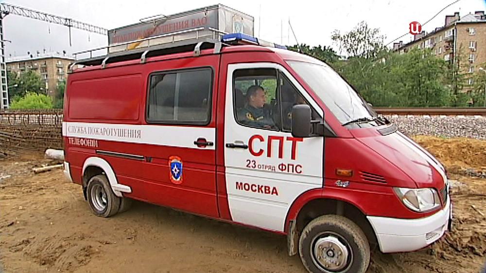 Машина службы пожаротушения