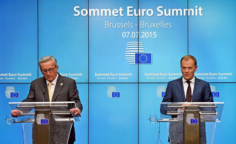 Председатель Европейского совета Дональд Туск и президент Европейской комиссии Жан-Клод Юнкер