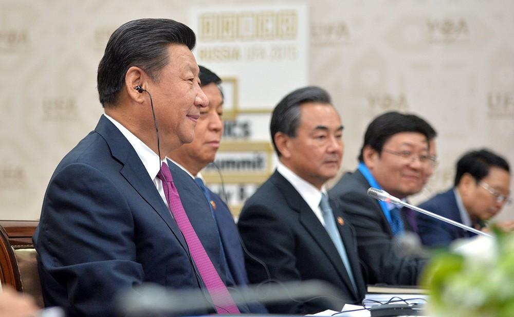 Председатель КНР Си Цзиньпин на саммите в Уфе