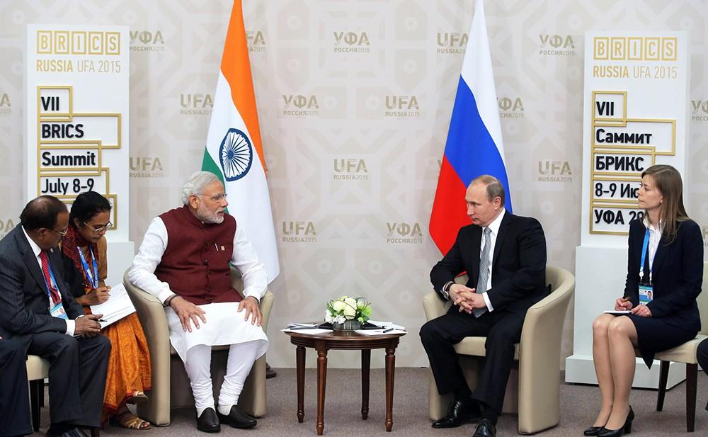 Премьер-министр Индии Нарендр Моди и президент России Владимир Путин