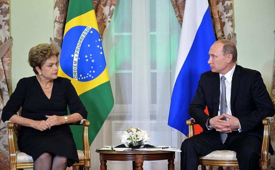 Встреча президента России Владимира Путина с президентом Бразилии Дилмой Роуссефф