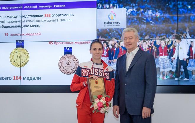 Сергей Собянин в спортивном комплексе