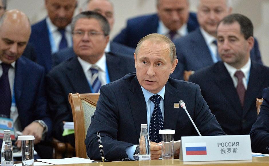 Президент России Владимир Путин на саммите в Уфе