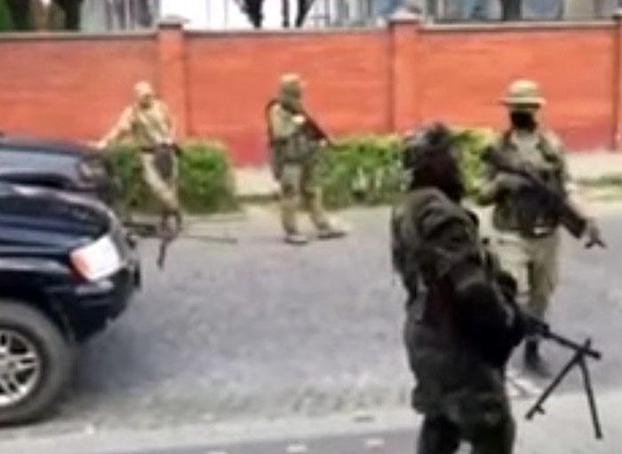 """Бойцы """"Правого сектора"""" в Мукачево"""