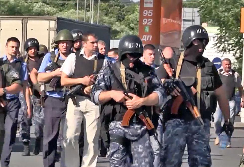 Украинская милиция на месте происшествия