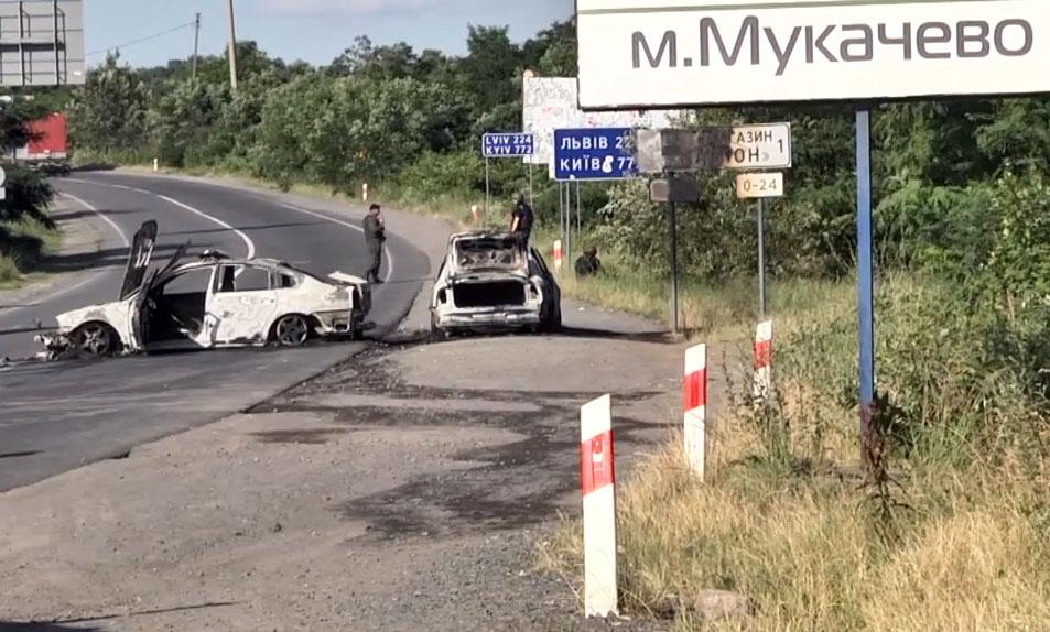 Последствия перестрелки в Мукачево