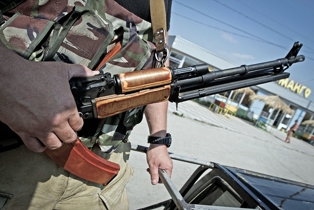Бойцы добровольческого батальона в Донбассе