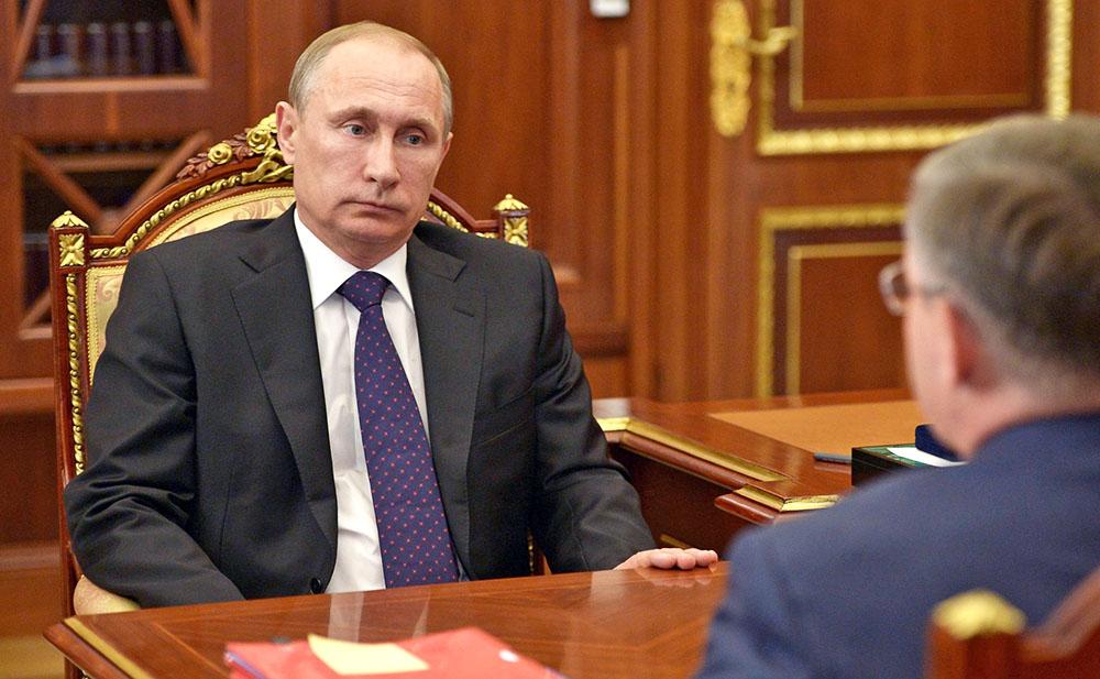 Президент России Владимир Путин и губернатор Тюменской области Владимир Якушев