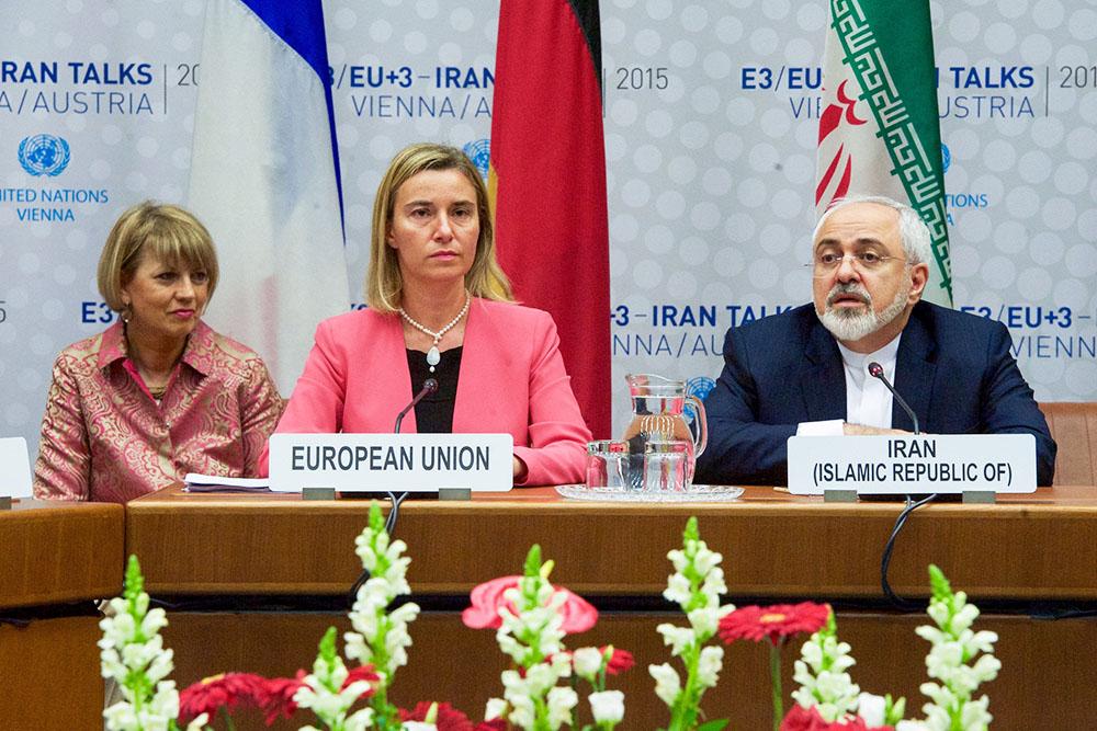 Федерика Могерини и Мохаммад Джавад Зариф на переговорах по иранской ядерной программе