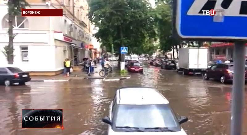 Ливень в Воронеже
