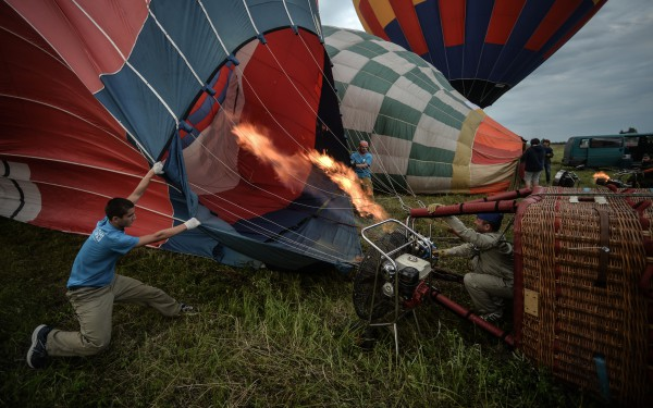 Воздухоплаватели готовятся к полетам