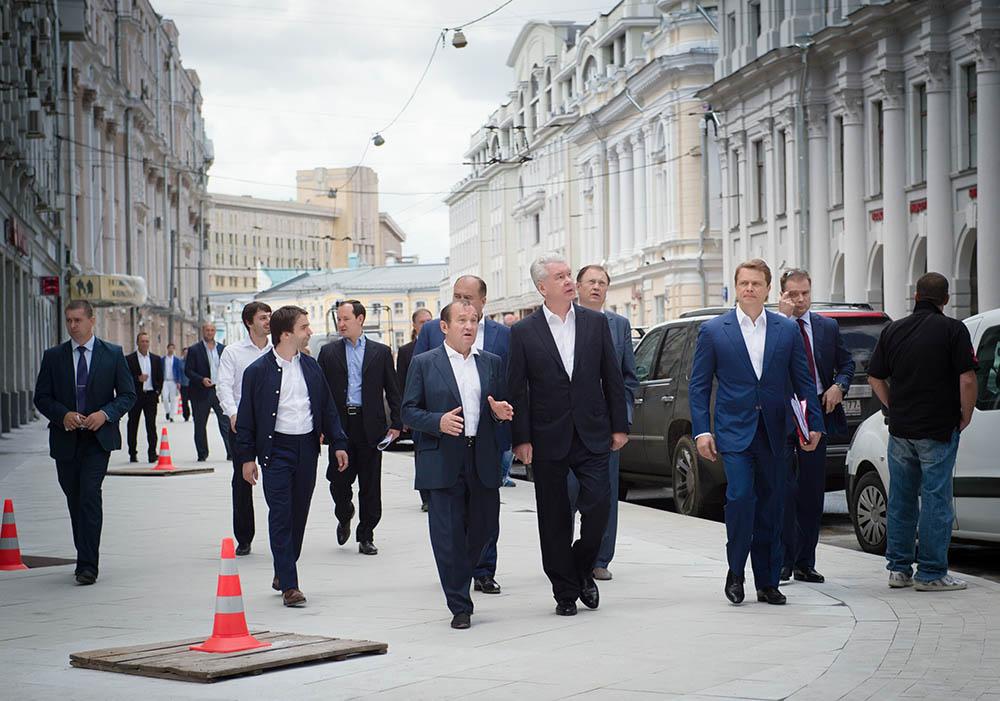 Осмотр хода благоустройства Мясницкой улицы