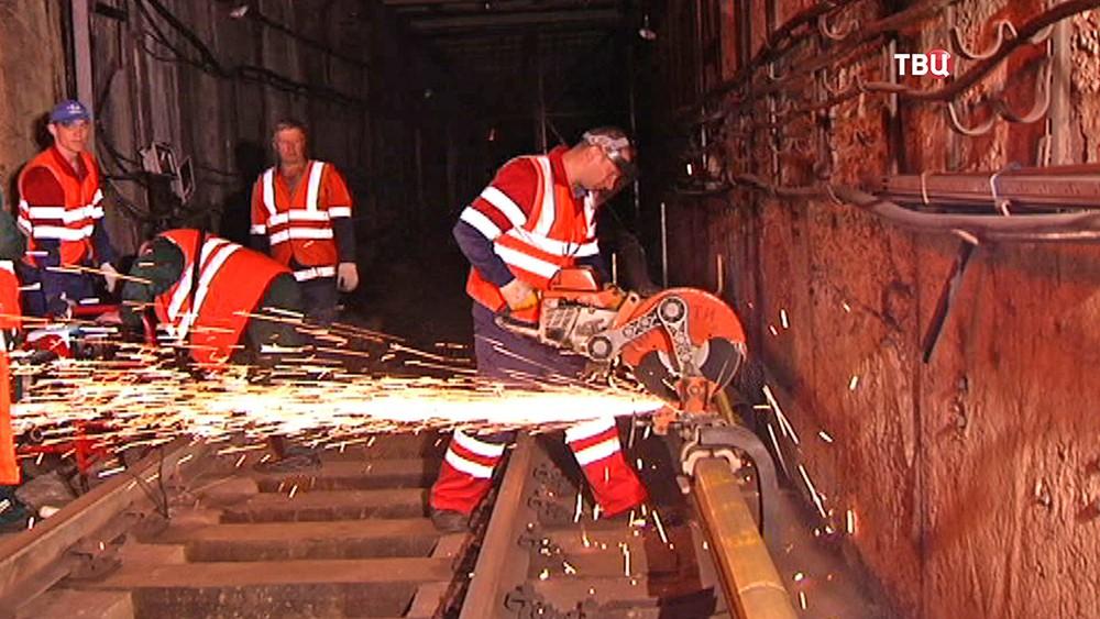 Ремонтные работы в метро