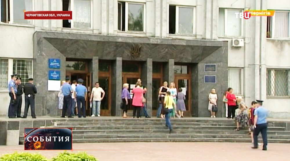 Участок для голосования в Чернигове