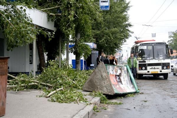 Последствия ураганного ветра