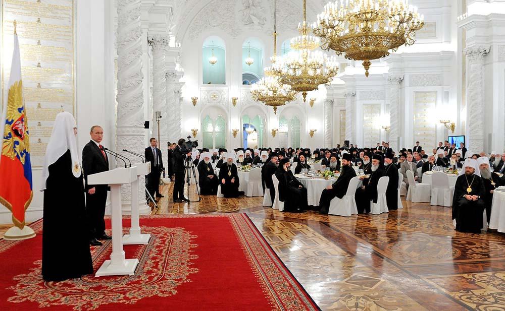Кремле состоялся торжественный приём от имени Президента России по случаю тысячелетия преставления святого равноапостольного князя Владимира
