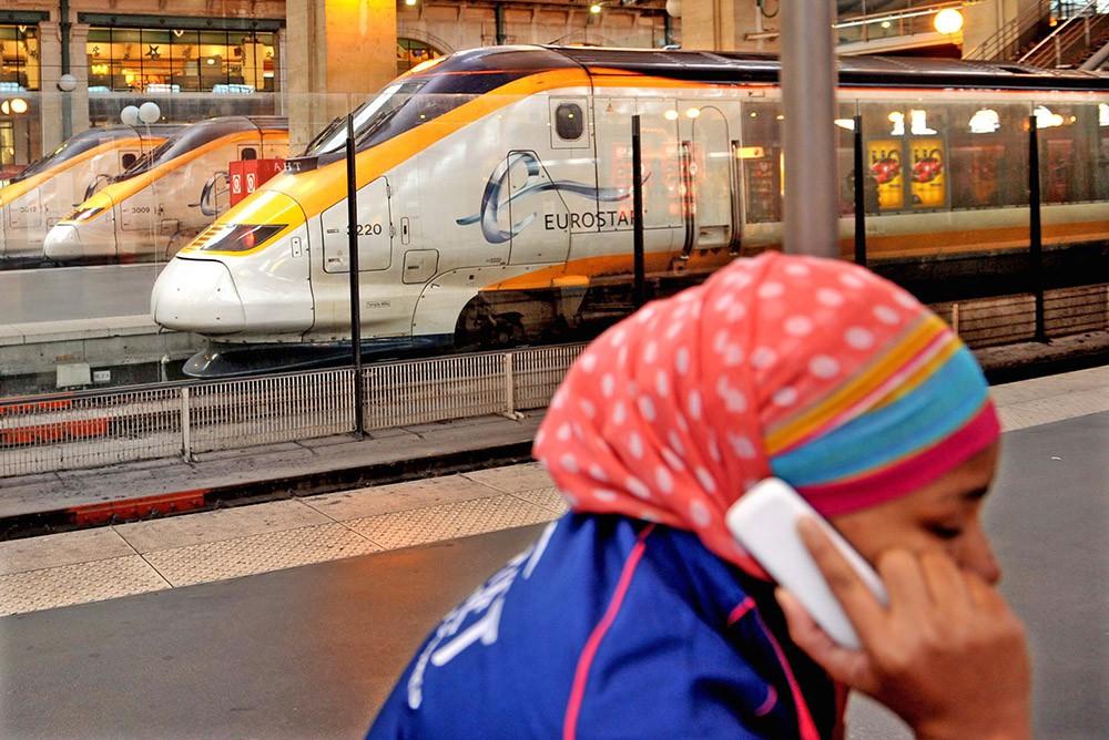 Поезда Евротоннеля вокзале