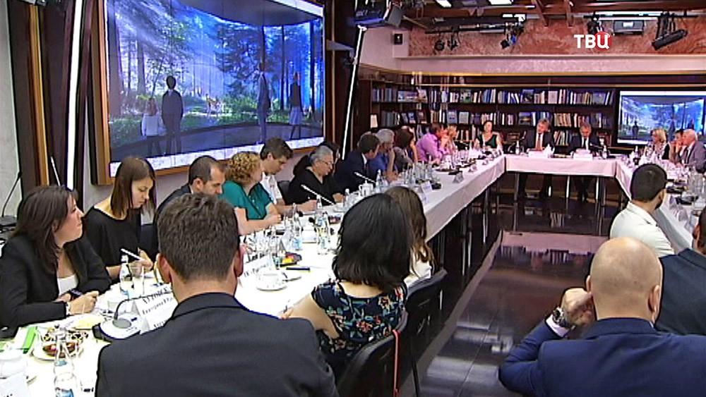 Пресс-конференция Русского географического общества