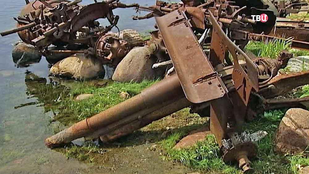 Военная техника времен второй мировой войны на острове Гогланд