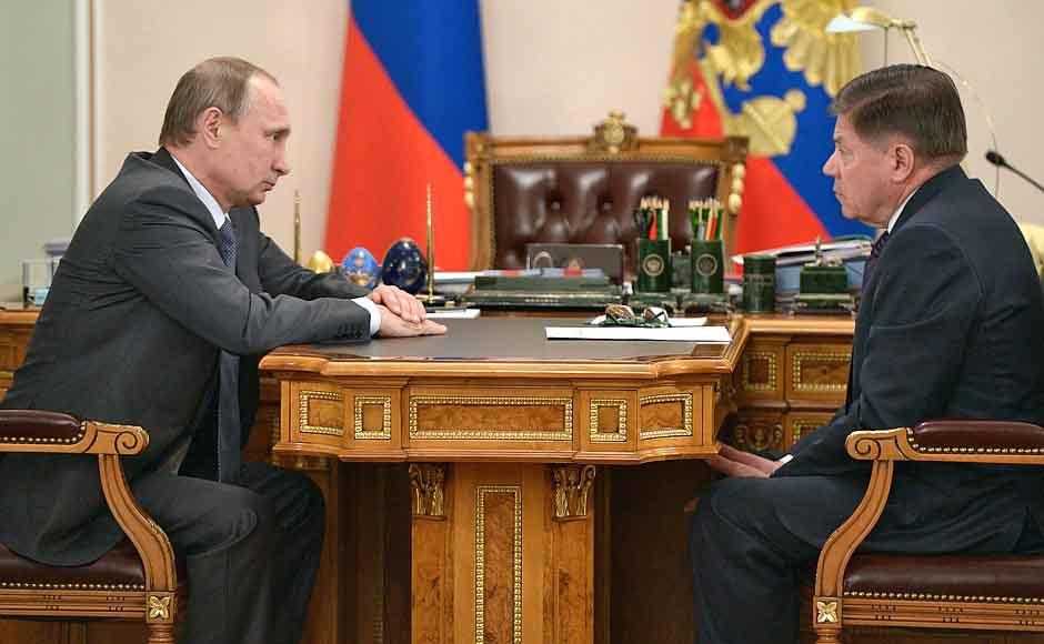 Президент России Владимир Путин и председатель Верховного Суда Российской Федерации Вячеславом Лебедевым