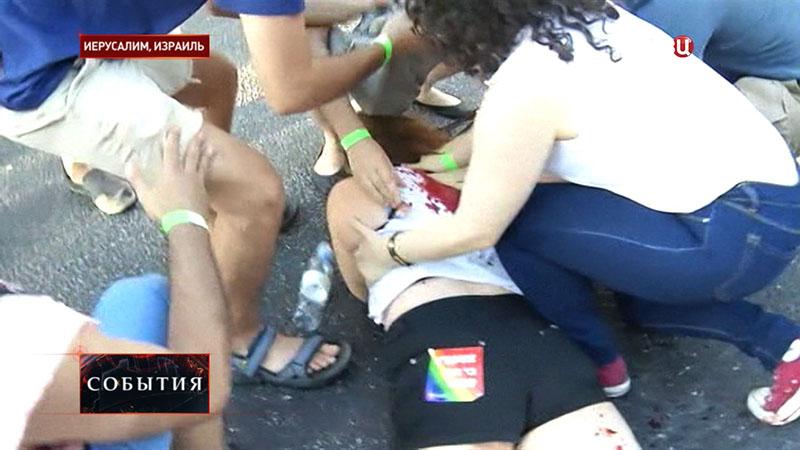 Пострадавшие при нападении на гей-парад в Иерусалиме