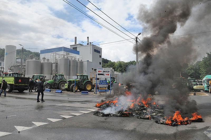 Забастовка европейских фермеров в Европе