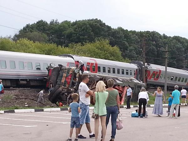 Сход вагонов поезда в Белгородской области