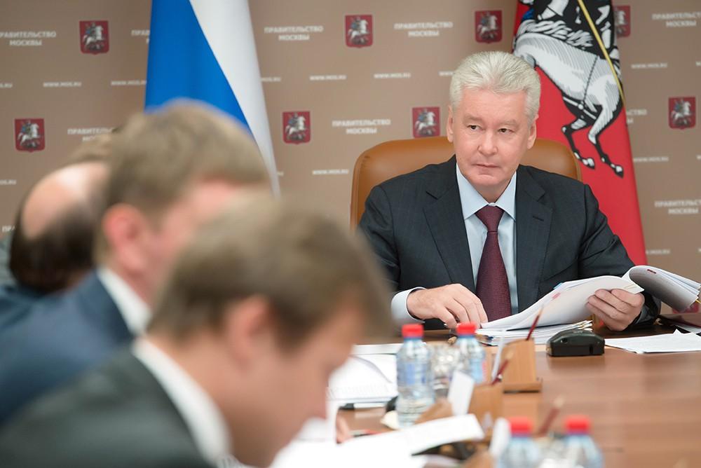 Мэр Москвы Сергей Собянин во время заседания президиума правительства Москвы