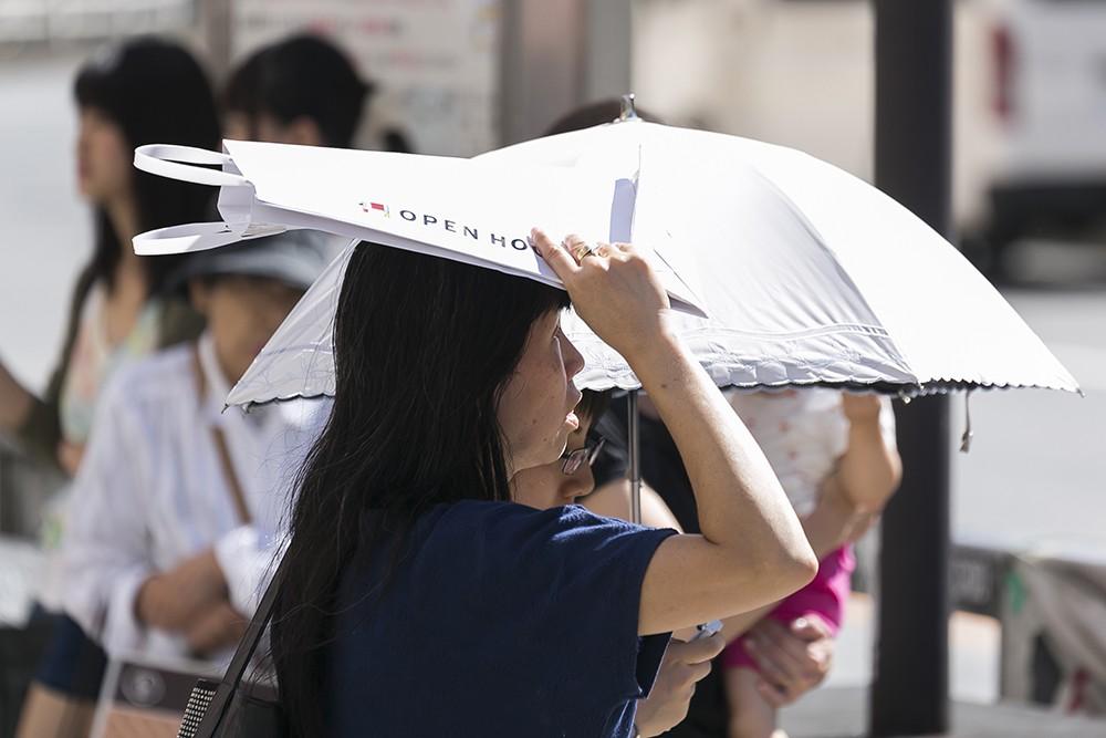 Жаркая погода в Японии