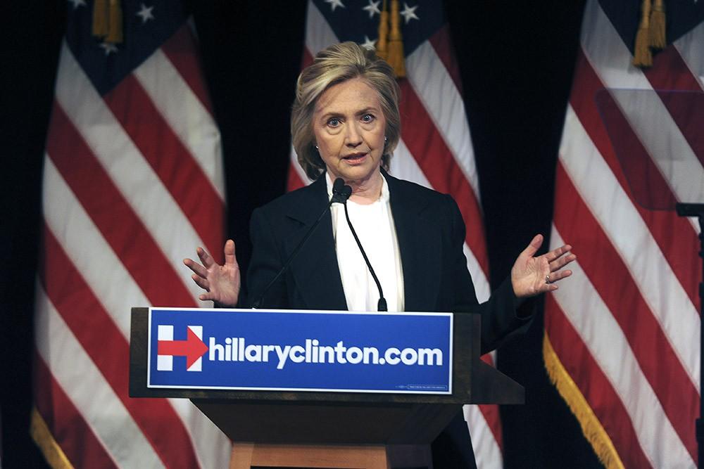 Кандидат на пост президента США Хиллари Клинтон