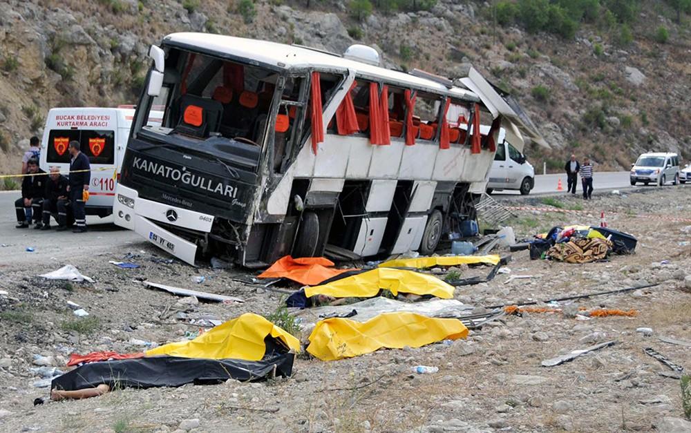 ДТП с участием туристического автобуса в Турции