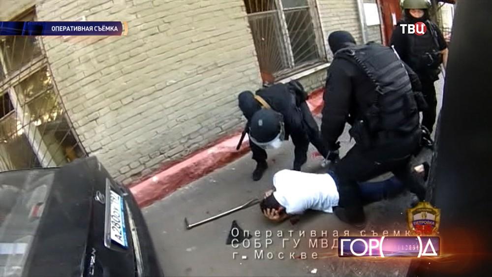 Во время задержания преступников