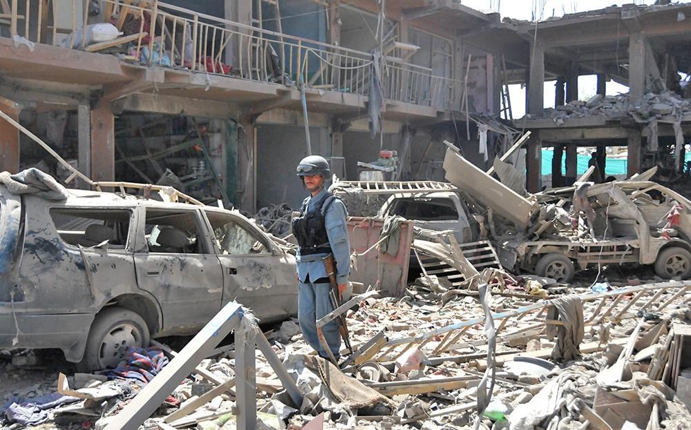 Последствия взрыва в Кабула
