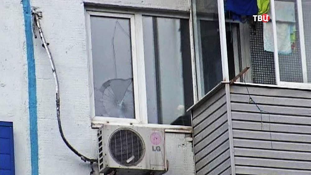 Место падения ребёнка из окна