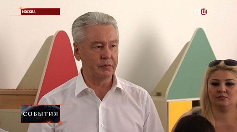Сергей Собянин в детском саду