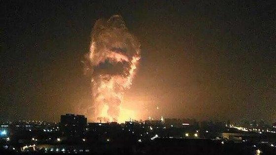 Взрыв в городе Тяньцзинь