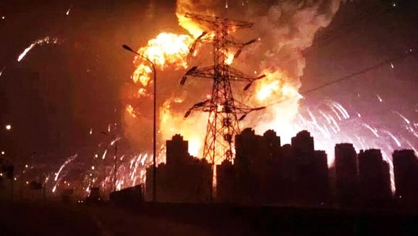 Взрыв на складе в Китае