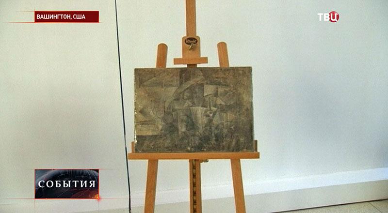 """Церемония передачи картина """"Парикмахерша"""" Пабло Пикассо"""