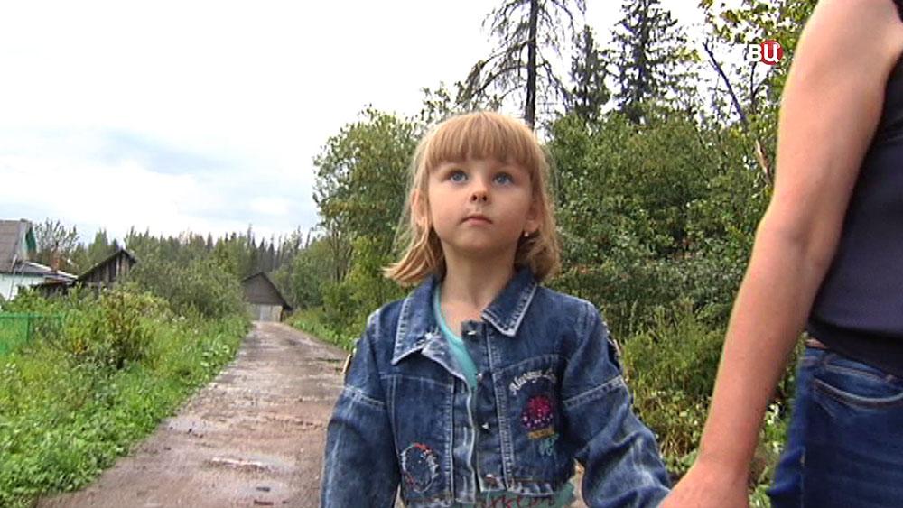 Девочка спасшая заблудившуюся пенсионерку