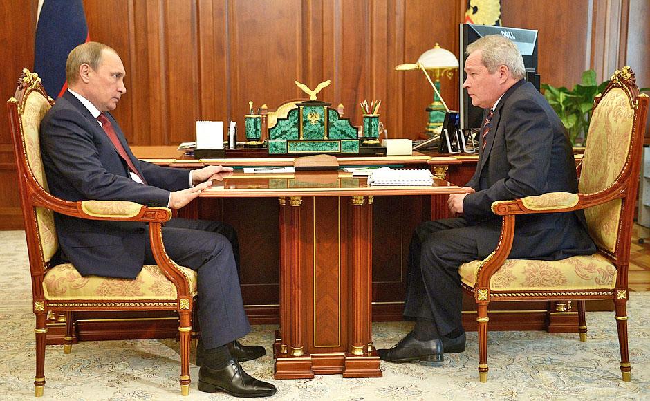 Президент России Владимир Путин и губернатор Пермского края Виктор Басаргин