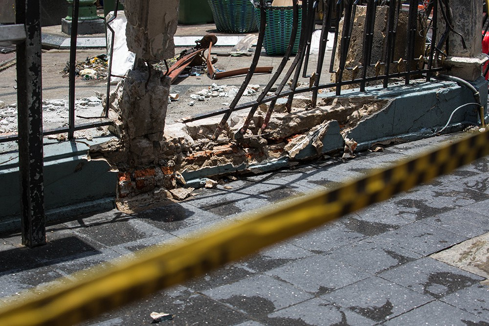 На месте взрыва в Бангкоке