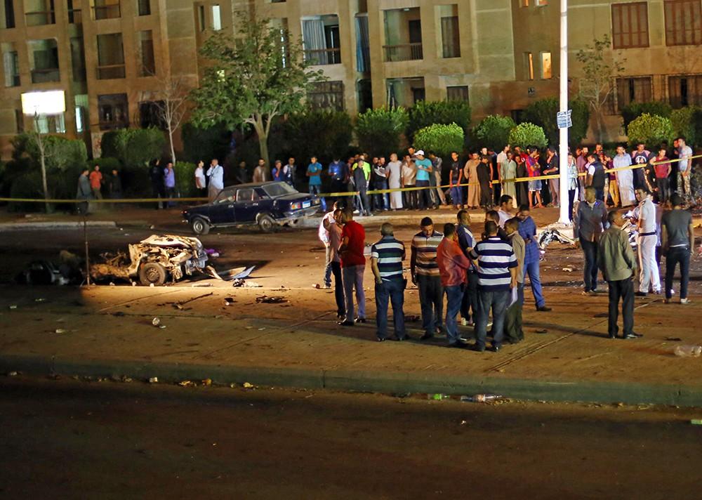 Последствия взрыва в Каире