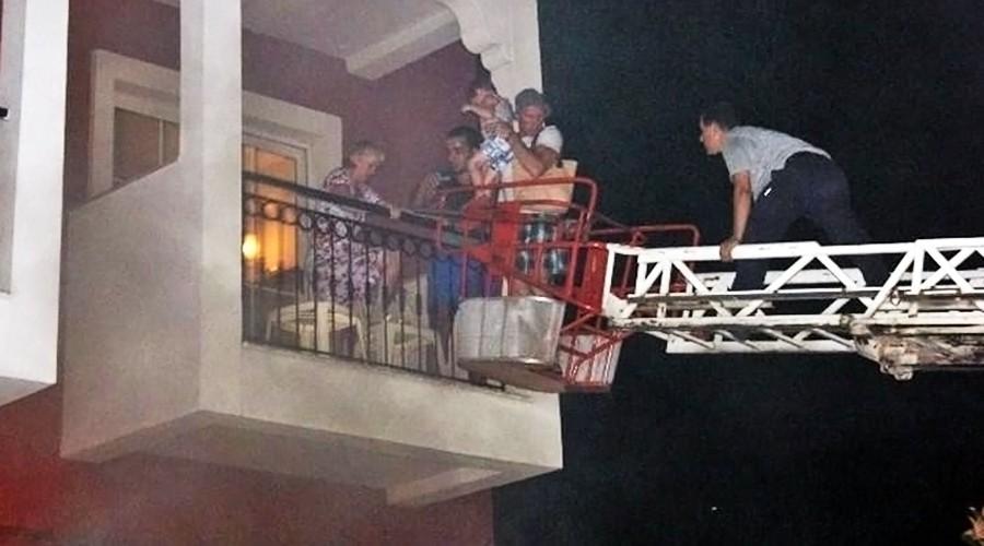 Пожар в отеле Турции