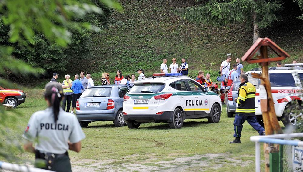 Экстренные службы Словакиии на месте происшествия