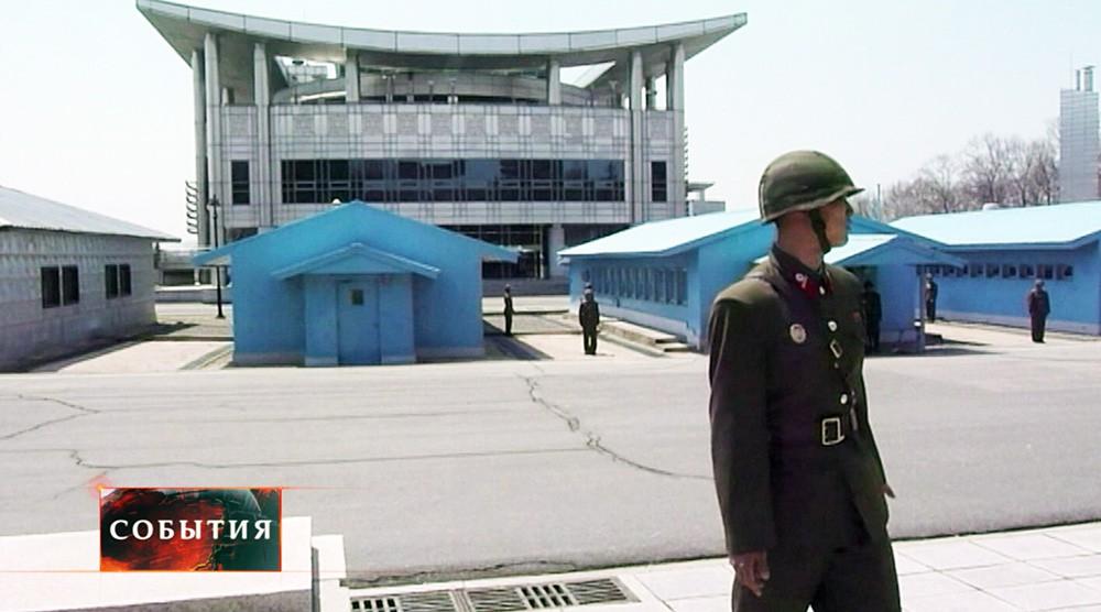 Солдат КНДР на границе