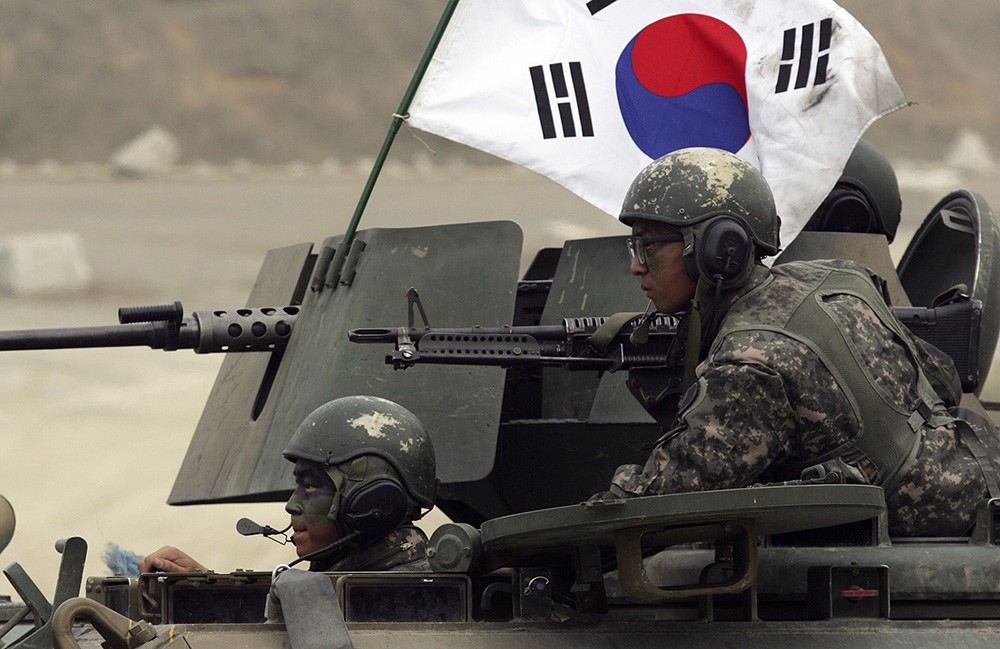 Солдаты Южной Кореи на позиции
